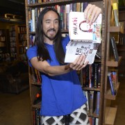 "LOS ANGELES, CA - JULY 30:  DJ/producer Steve Aoki attends a signing of his new book ""Eat Sleep Cake Repeat"" at The Last Bookstore on July 30, 2015 in Los Angeles, California.  (Photo by Michael Tullberg/Getty Images)"