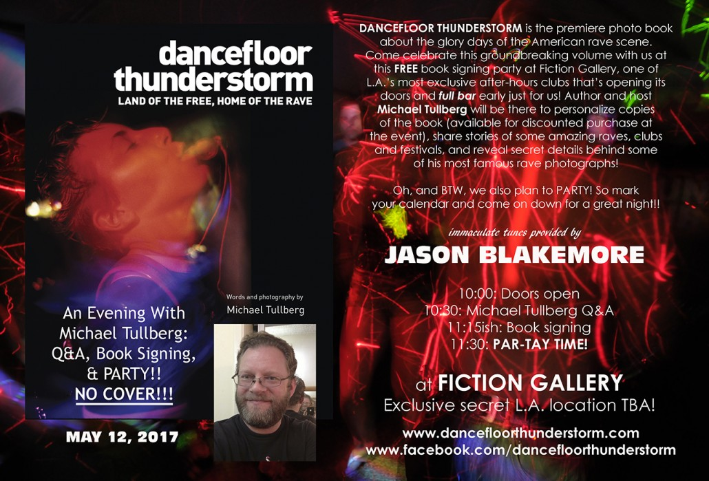 DANCEFLOOR THUNDERSTORM signing flyer at Fiction Gallery